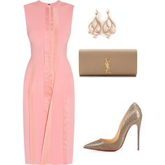 A fashion look from June 2016 featuring Roksanda dresses, Yves Saint Laurent clutches and Shaun Leane earrings. Browse and shop related looks.