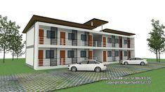 2 Storey House Design, Bungalow House Design, Modern House Design, Small Apartment Plans, Small Apartments, Restaurant Facade, Townhouse Designs, Boarding House, Apartment Complexes