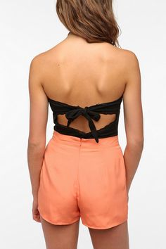 Pins and Needles Open-Back Strapless Top  #UrbanOutfitters