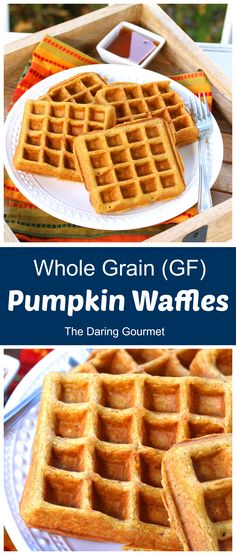 These delicious pumpkin spice waffles are made with oat flour and are naturally gluten-free. Wholesome and delicious they're sure to become a family favorite!