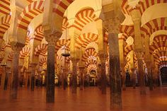 Photo of Seville Cordoba Day Trip from Seville Columns at the Mezquita, Cordoba Religious Architecture, City Architecture, World Days, Medieval Castle, Moorish, Spain Travel, Malaga, World Heritage Sites, Mosque