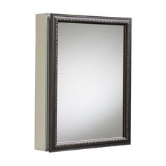 KOHLER, 20 in. x 26 in H. Recessed or Surface Mount Mirrored Medicine Cabinet in Oil Rubbed Bronze, at The Home Depot - Mobile Wall Mounted Medicine Cabinet, Medicine Cabinets, Mirror Kit, Mirror Door, Home Depot, Bronze Mirror, Tempered Glass Shelves, Glass Front Door, Houses