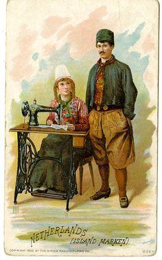 Singer Sewing Machine's World, 1892, The Netherlands Island Marken
