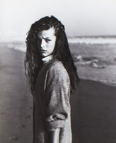 Milla Jovovich photographed by Herb Ritts for Lei, October 1987