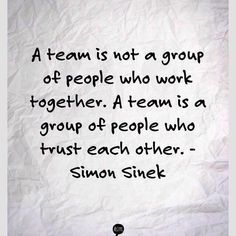 A team is not a group of people who work together...