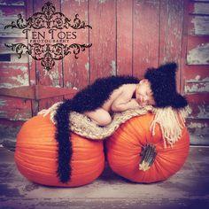 Black Kitty Cat - Cuddle Critter Cape Set  - Newborn Photography Prop