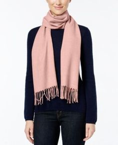 Calvin Klein Solid Woven Scarf - Pink