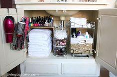 Bathroom Sink organization Ideas Inspirational 29 Space Efficient Bathroom Storage Ideas that Look Beautiful Bathroom Sink Organization, Under Sink Organization, Sink Organizer, Linen Closet Organization, Small Bathroom Storage, Organization Ideas, Storage Ideas, Bathroom Ideas, Bathroom Cabinets