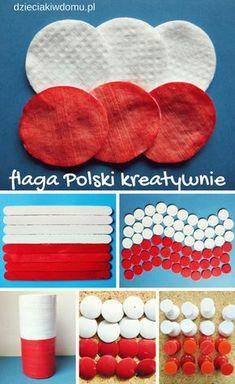 flaga polski - kreatywne pomysły dla dzieci Fun Crafts For Kids, Art For Kids, Diy And Crafts, Arts And Crafts, Paper Crafts, Earth Day Crafts, Giant Paper Flowers, Kids Education, Independence Day