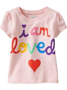 PURCHASED - Pink Love - Cap-Sleeve Graphic Tees for Baby | Old Navy