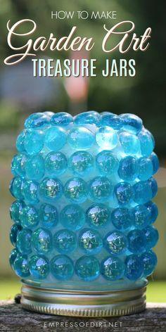 How to make garden art treasure jars.