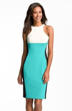 MAGGY LONDON Colorblock Scuba Sheath POINTE Dress SZ 8 SOLD OUT!! #MaggyLondon #Sheath #Casual