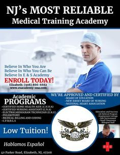 Become part of the  E & S Academy Family (Health Care Certification!)