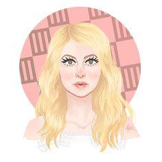 Hayley #5. Look: Brick by Boring Brick music video. Hayley Williams, Paramore, hairstyles, blonde, illustration, design