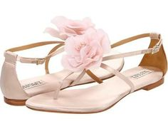 flat ivory bridal sandals - Google Search
