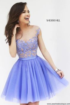 The Charming Tulle And Appliques Short Graduation Dresses,Sleeveless Homecoming Dresses, Homecoming Dresses On Sale....PERIWINKLE