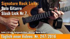 ✪ Signature Rock Licks ►Solo Gitarre - Slash Lick Nr.7