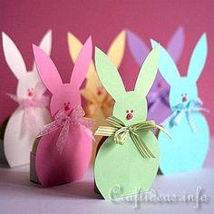 Les porteurs de lapin de Pâques Papier oeufs 1