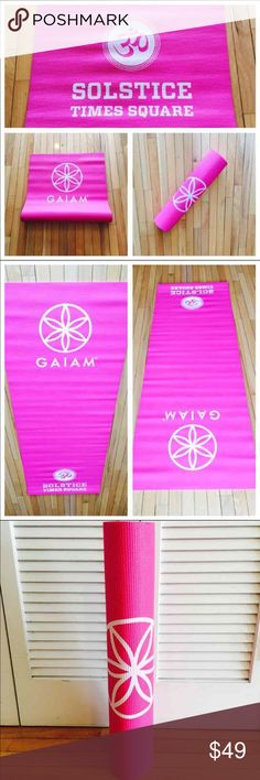 ☮ NWOT Pink Gaiam Yoga Mat ☮ Brand new without tags. Never used! (I unrolled it to take pictures.) Measures 3mm in thickness. These mats were made as part of the Yoga Alliance Summer Solstice celebration in Manhattan. Gaiam Other