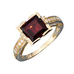 JOBO Damen-Ring 585 Gold Gelbgold 12 Diamant-Brillanten 0,08ct. 1 Granat Größe 56 Jobo http://www.amazon.de/dp/B00E8CZMB8/?m=AMWB9IWQTFGZU