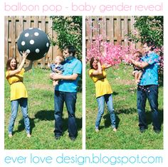 Ever Love Design // Giant balloon & confetti gender reveal!