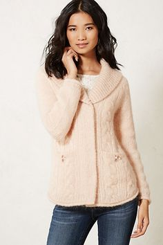 Cabled Sweater Jacket #anthropologie