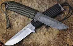 100% handmade (Germany) Sacki Survival Outdoor Knife by Schmiedeglut