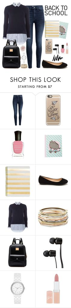 """Untitled #706"" by cupcakes077 ❤ liked on Polyvore featuring H&M, Casetify, Deborah Lippmann, claire's, Sugar Paper, Dorothy Perkins, Kendra Scott, Vans, DKNY and Rimmel"