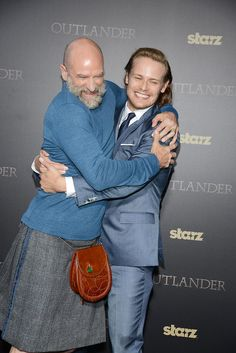 April 1st in New York... Season 1 Part 2 Premier #Outlander #Bromance Graham and Sam