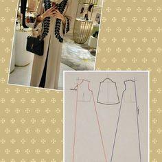 Ideas for sewing patterns free women dress mom Abaya Pattern, Kimono Pattern, Sewing Clothes, Diy Clothes, Dress Sewing, Sewing Patterns Free, Free Pattern, Mode Abaya, Pattern Drafting