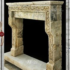 Chippendale Style Wood Fireplace Mantel With Hand Carved Shell