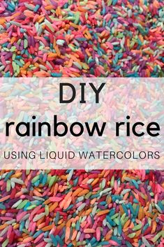 DIY Rainbow Rice Usi