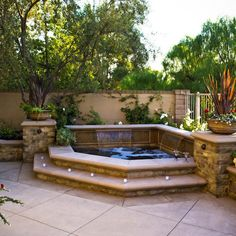 Inground Spa Design Ideas, Pictures, Remodel, and Decor
