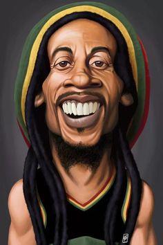 Bob Marley Dibujo, Bob Marley Kunst, Bob Marley Art, Rob Snow, Arte Do Hip Hop, Hip Hop Art, Funny Caricatures, Celebrity Caricatures, Black Cartoon