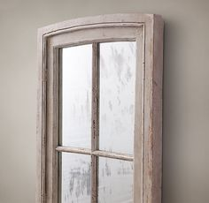 19th C. French Window Mirror Single Pane