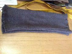 Manicotto color tortora  18x32cm 30% cachemire, altre misure su ordinazione € 15.00