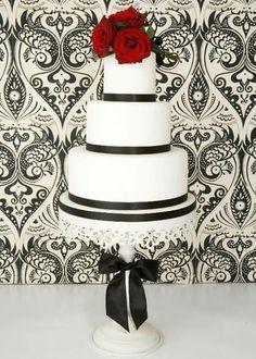 White Wedding Cakes Weddings Modern Cake Designs Red Roses Eat Bliss Tea Party Cupcakes