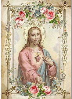 Catholic Pictures, Religious Photos, Jesus Pictures, Religious Art, Christian Images, Christian Art, Catholic Prayers, Catholic Art, Heaven Art