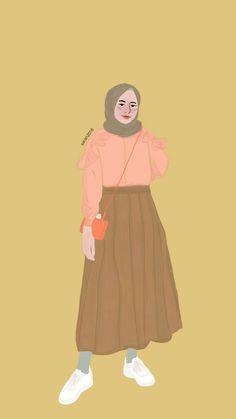 #fashionillustration #fashionhijab #girl #digitalart #art #drawings #selebgram  #sarstudios_ Muslim Fashion, Hijab Fashion, Fashion Art, Fashion Outfits, Muslim Girls, Muslim Women, Tmblr Girl, Hijab Drawing, Moslem