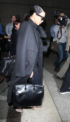 Kim arriving at Los Angeles International Airport in Los Angeles, CA - 25/11/2014