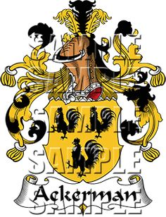 Ackerman Family Crest apparel, Ackerman Coat of Arms gifts