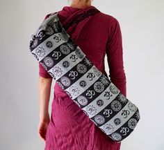 A personal favorite from my Etsy shop https://www.etsy.com/listing/266444401/sale-yoga-mat-bag-vibrant-colorful-gray