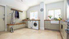 Browse laundry room ideas and decor inspiration. Discover designs for custom laundry rooms and closets, including utility room organization and storage solutions. Laundry Room Doors, Laundry Room Cabinets, Kitchen Cabinet Storage, Storage Cabinets, Basement Laundry, Small Utility Room, Small Laundry Rooms, Utility Sink, Small Rooms