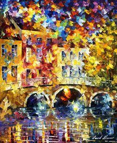 Puente de inofensivo  textura pintura al óleo por AfremovArtStudio