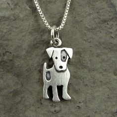 This adorable little Jack Russell is made of brushed sterling silver. The pendant measures approximately tall, which means it's a little Jack Russell, but. Jack Russell Terriers, Dog Jewelry, Animal Jewelry, Jewelry Design, Ideas Joyería, Jack Russells, Metal Clay, Pitbull Terrier, Jewelery