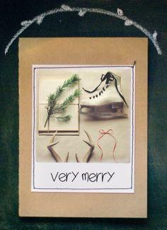 Vintage Photo Christmas Cards Set of 8