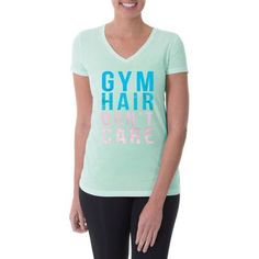 Danskin Now Women's Active Short Sleeve V-Neck Graphic Tee - Walmart.com