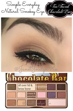 Everyday Natural Smokey Eye | Too Faced Chocolate Bar Tutorial