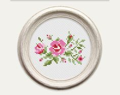 Scheme for cross stitch- Rose - Cross stitch pattern. This is a digital Cross stitch pattern that you can instantly download from Etsy after purchase. Patterns include a full color chart with color symbols, a thread legend. PATTERN SPECIFICATIONS: Grid size - 42 stitches x 29
