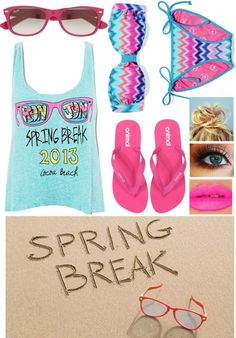 """""""Spring Break 2013✌"""" by kmmdoodlebug ❤ liked on Polyvore"""